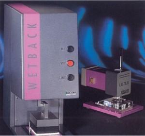 不織布用通液度/液戻り測定装置型式:Lister/Wetback